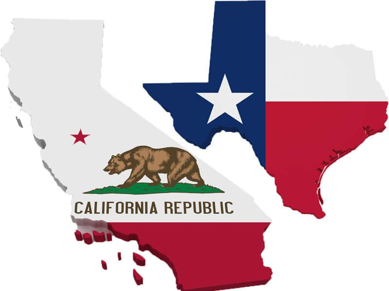 Texas-vs-California
