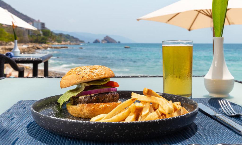 aquazul restaurant special burger